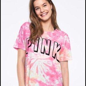Victoria's Secret PINK Tie Dye Campus Tee - XS